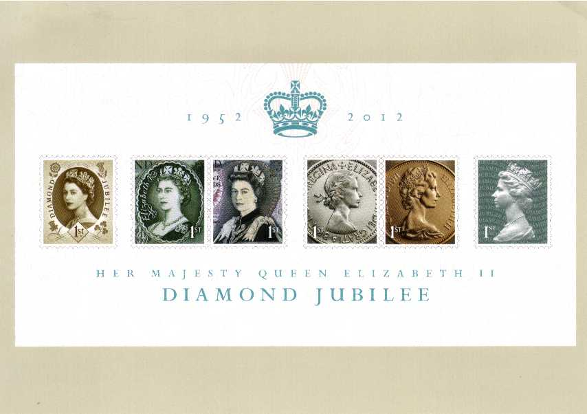 view larger image for PHQ No.D33 (2012) - The Diamond Jubilee Definitive Stamps 