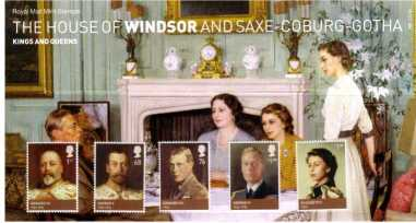 Stamp Image: view larger back view image for Kings and Queens - 5th Issue - House of Windsor