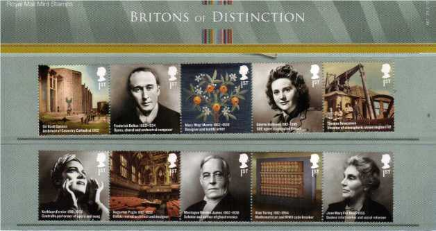 Stamp Image: view larger back view image for Britons of Distinction