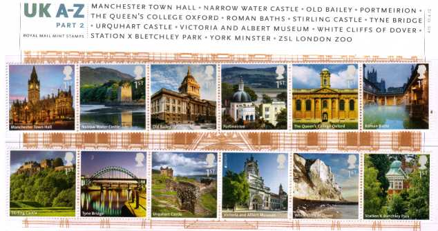 Stamp Image: view larger back view image for UK A-Z Part Two