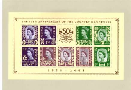 view larger image for PHQ No.D29B (2008) - Country Definitives set of nine and minisheet set of ten cards