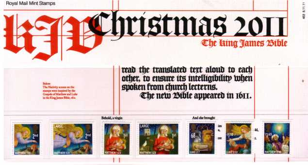 Stamp Image: view larger back view image for Christmas - King James Bible<br/><br/>
