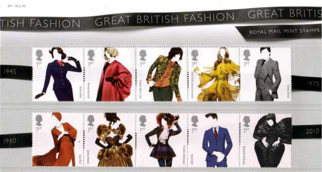 Stamp Image: view larger back view image for Great British Fashion