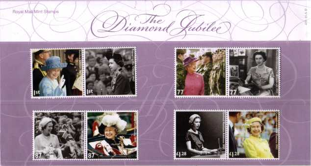 Stamp Image: view larger back view image for Queen's Diamond Jubilee<br/>