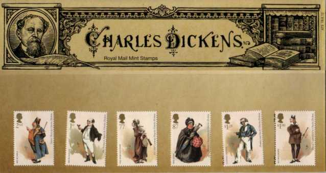 Stamp Image: view larger back view image for Charles Dickens<br/>