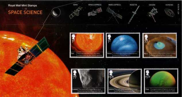 Stamp Image: view larger back view image for Space Science