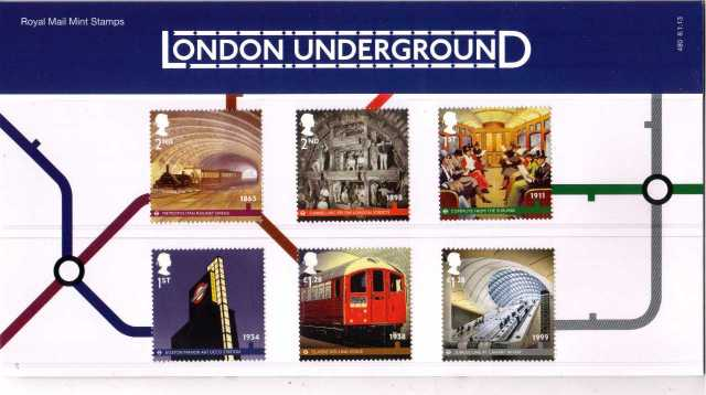Stamp Image: view larger back view image for London Underground<br/>