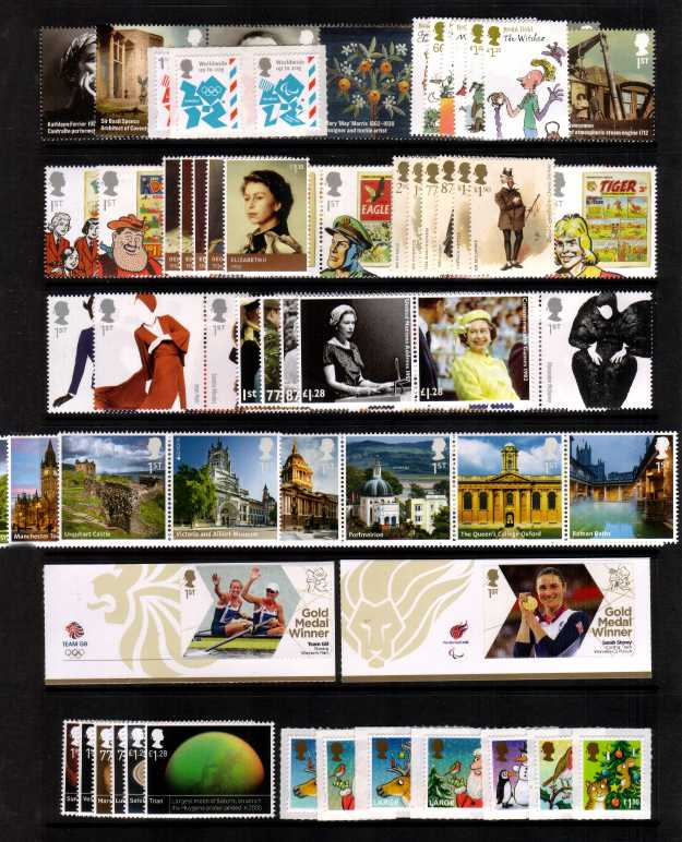 view larger image for Commemorative Year Sets -  (2012) - 13 Sets - 149 stamps