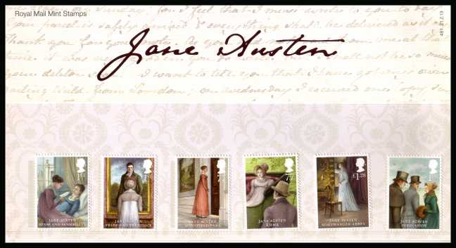 Stamp Image: view larger back view image for Jane Austen