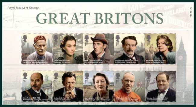 Stamp Image: view larger back view image for Great Britons