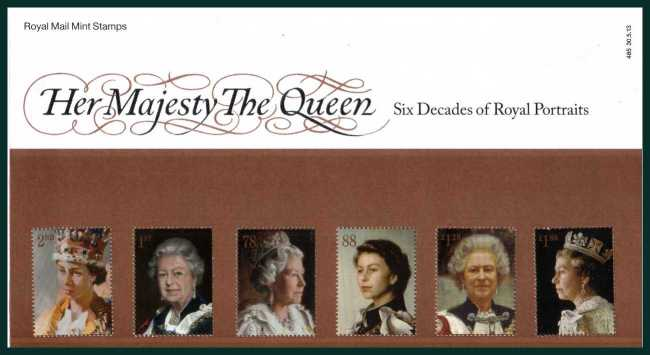 Stamp Image: view larger back view image for Her Majesty The Queen<br/>Six Decades of Royal Portraits<br/><br/>