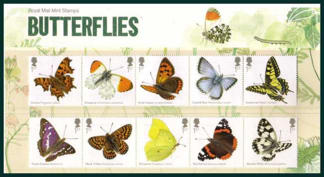 Stamp Image: view larger back view image for Butterflies