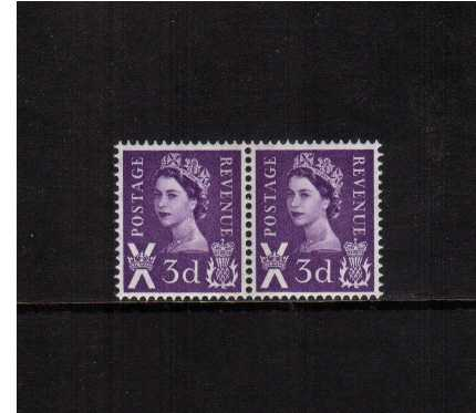 view larger image for SG S1pc (1965) - 3d Deep Lilac Left and Right Bands in pair