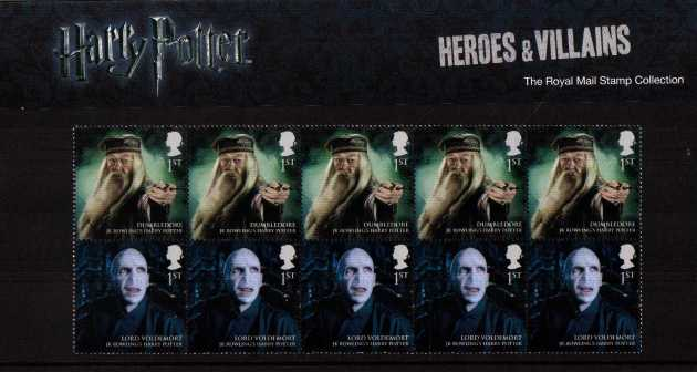 Stamp Image: view larger back view image for Harry Potter<br/>