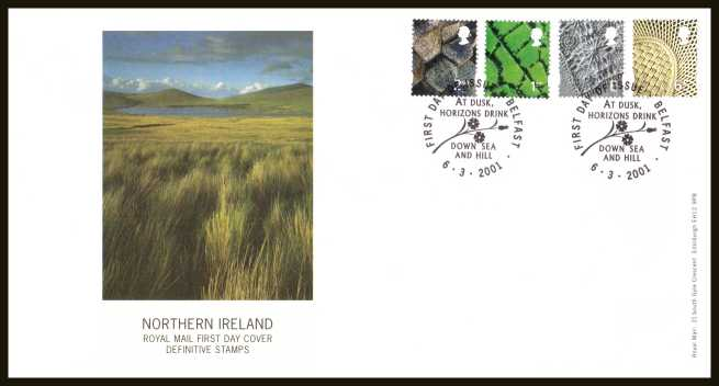 view larger back view image for NORTHERN IRELAND set of four (2nd - 65p) on an unaddressed 