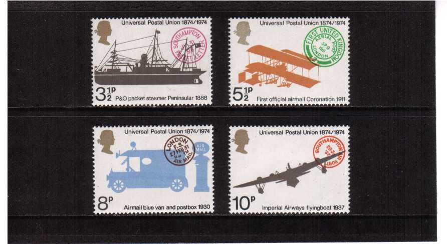 view larger image for SG 954-957 (1974) - Universal Postal Union set of four