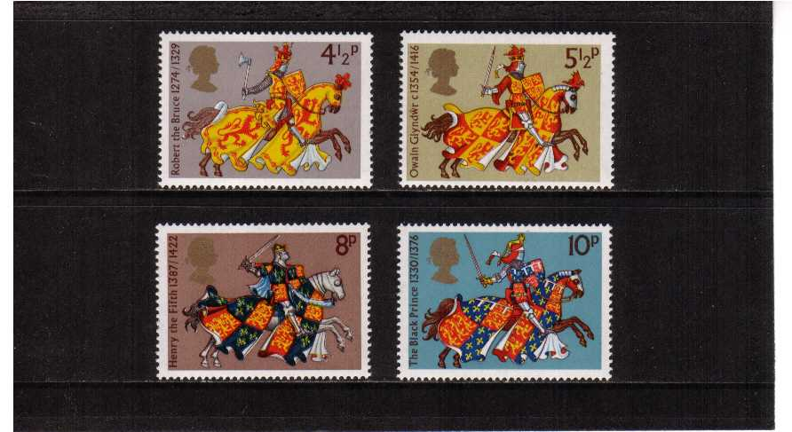 view larger image for SG 958-961 (1974) - Medieval Warriors set of four