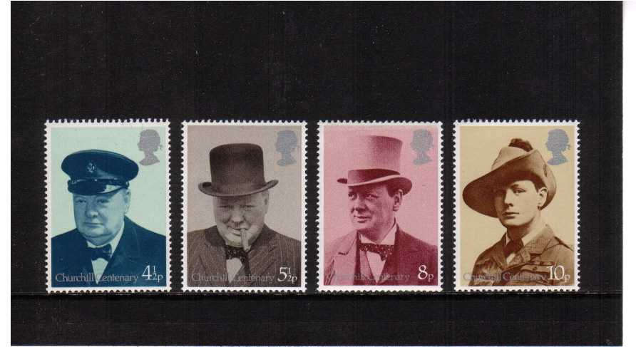 view larger image for SG 962-965 (1974) - Centenary of Sir Winston Churchill set of four