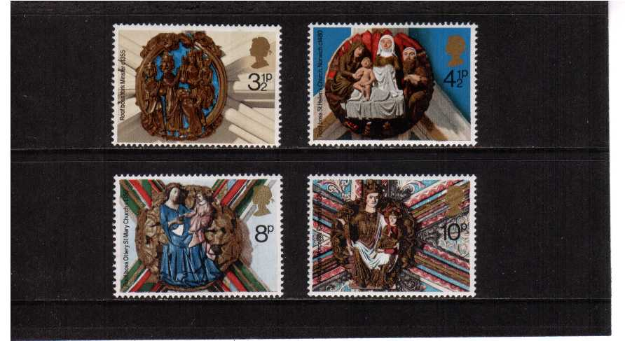 view larger image for SG 966-969 (1974) - Christmas set of four