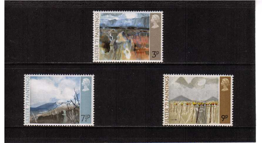 view larger image for SG 881-883 (1971) - 'Ulster 71' Paintings set of three
