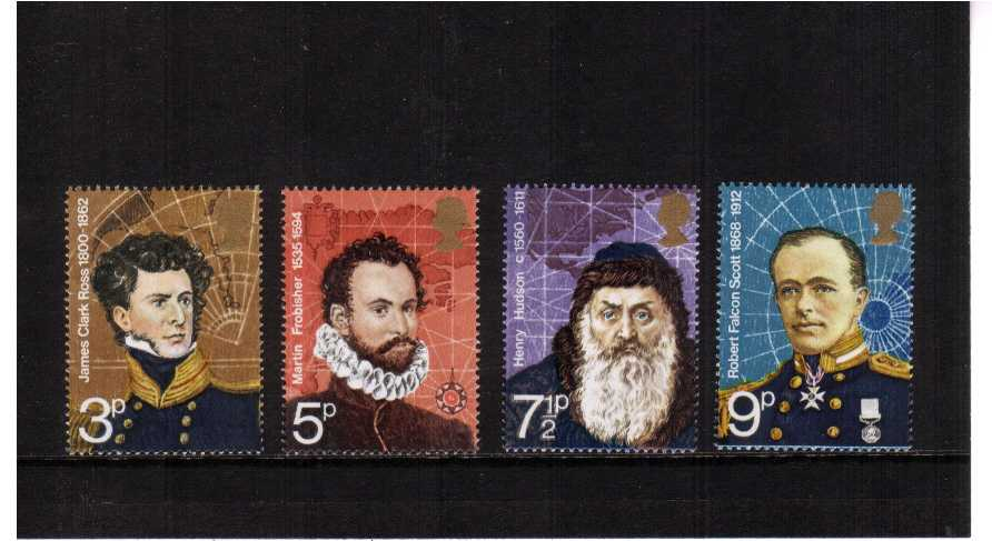 view larger image for SG 897-900 (1972) - British Polar Explorers set of four