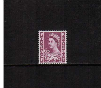 view larger image for SG W3 (1958) - 6d Deep Claret