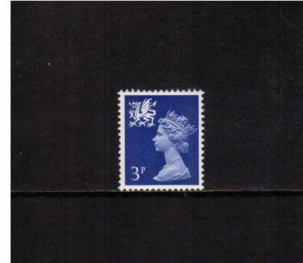 view larger image for SG W14 (1971) - 3p Ultramarine - 2 Bands - PVA Gum