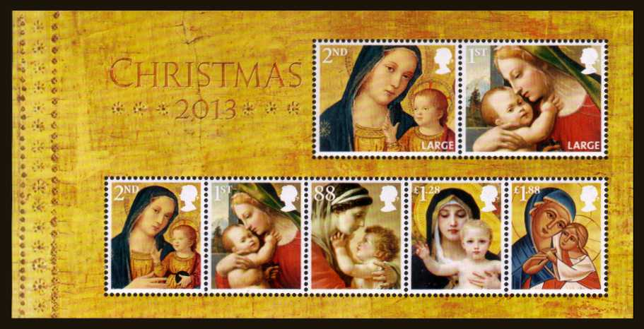 view larger image for SG MS3549 (5 Nov 2013) - Christmas - Madonna and Child minisheet