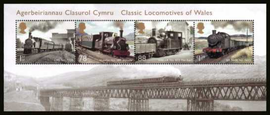view larger image for SG MS3578 (20 Feb 2014) - Classic Locomotives - Wales<br/>