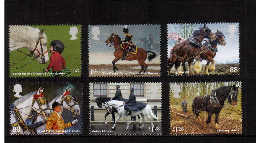view larger image for SG 3564-3569 (2014) - Working Horses<br/>