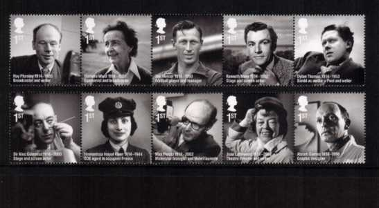view larger image for SG 3579-3588 (2014) - Remarkable Lives<br/>