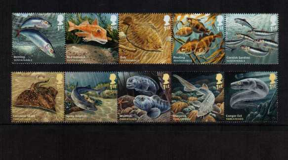 view larger image for SG 3609-3618 (2014) - Sustainable Fish - 1st Issue<br/>