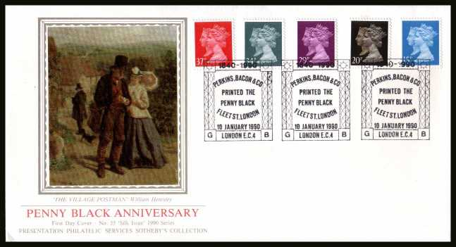 view larger back view image for 150th Anniversary of the Penny Black set of five 