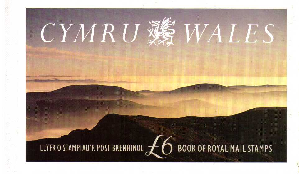 British Stamps Prestige Booklets Item: view larger image for SG DX13 (1992) - �6 - 'Cymru-Wales'