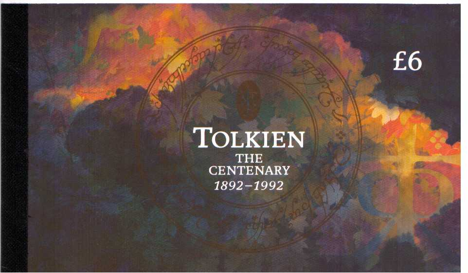 British Stamps Prestige Booklets Item: view larger image for SG DX14 (1992) - �6 - Birth Centenary of J R R Tolkien