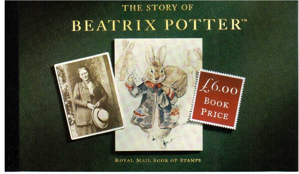 British Stamps Prestige Booklets Item: view larger image for SG DX15 (1993) - £5.64 - 'The Story of Beatrix Potter'