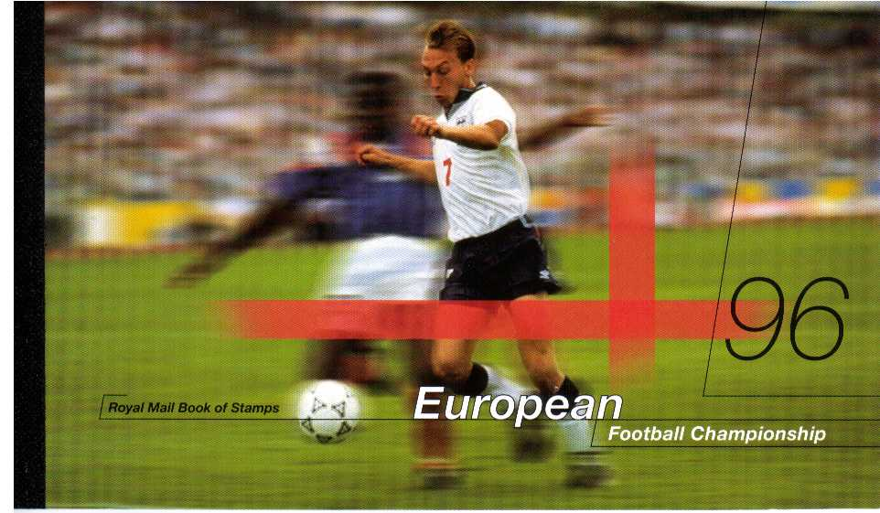 British Stamps Prestige Booklets Item: view larger image for SG DX18 (1996) - �6.48 - European Football Championship