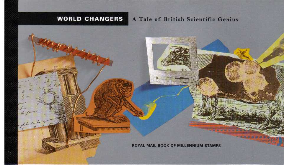 British Stamps Prestige Booklets Item: view larger image for SG DX23 (1999) - �6.99 - 'World Changers'