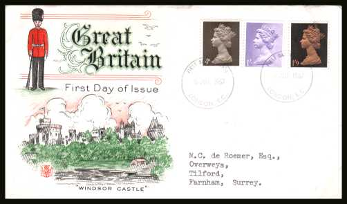 view larger back view image for Machin - 4d, 1/- and 1/9d on 
