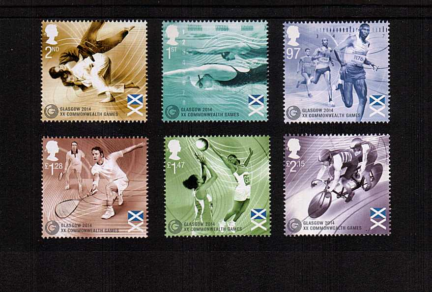 view larger image for SG 3619-3624 (2014) - GLASGOW 2014