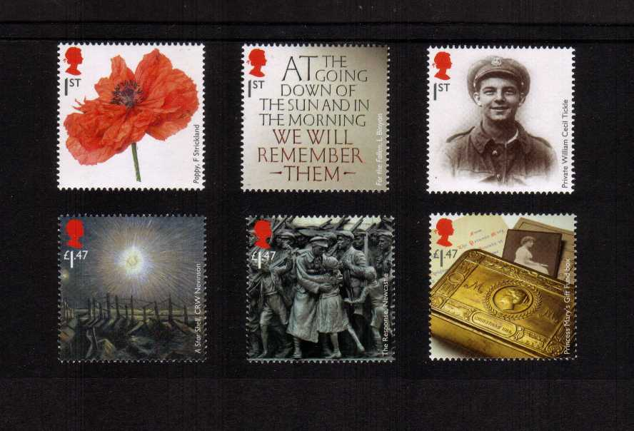 view larger image for SG 3626-3631 (2014) - The Great War 2014 - 1st Issue<br/>