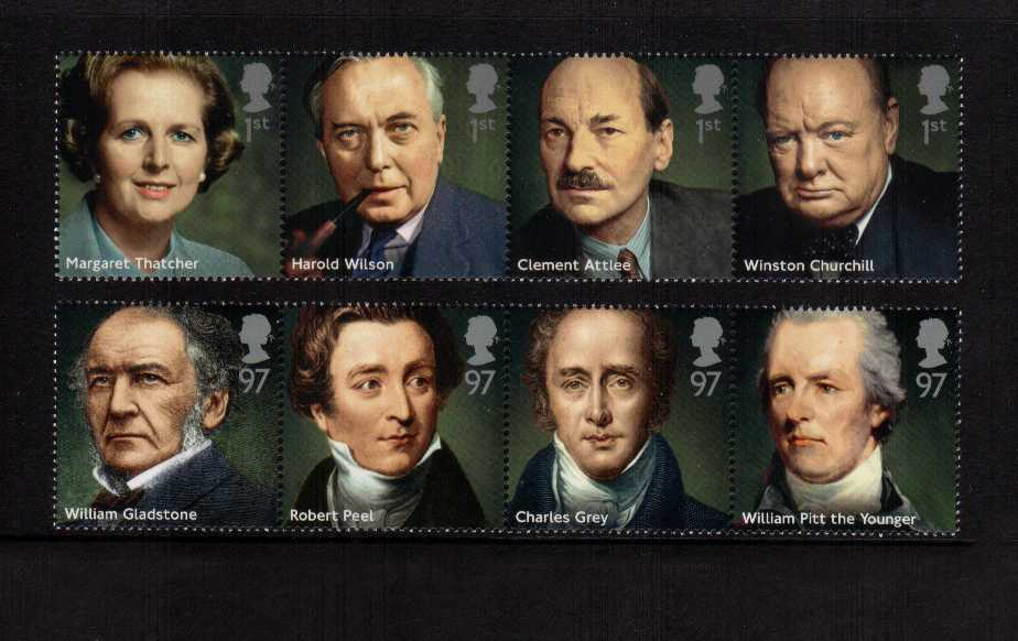 view larger image for SG 3642-3649 (2014) - Prime Ministers<br/>