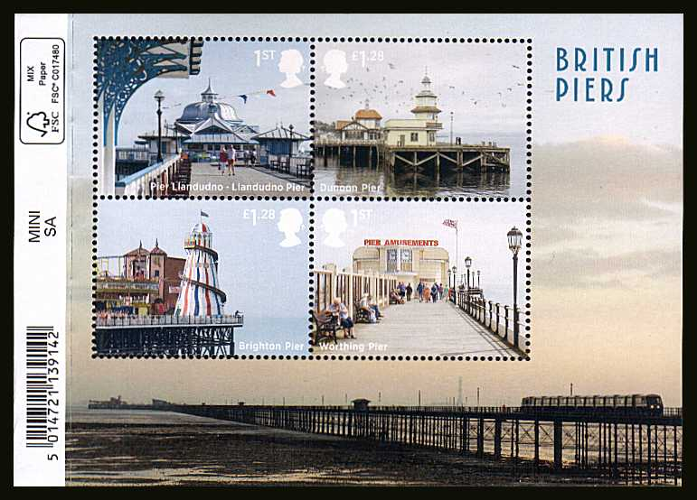 view larger image for SG MS3641 (18 Sept 2014) - British Piers<br/>