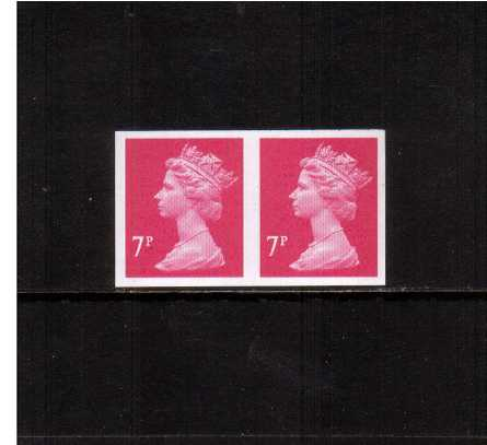 view larger image for SG Y1673a (2004) - 7p Bright Magenta - 2 Bands. A superb unmounted mint completely imperforate pair. SG Cat �200+  