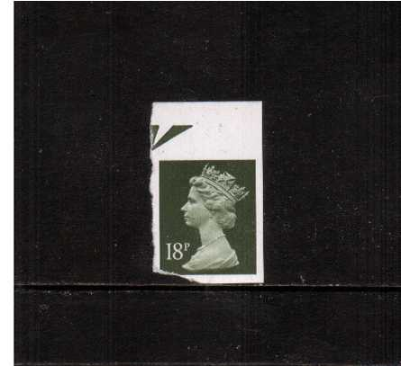 view larger image for SG X955avar (1984) - 18p Deep Olive-Grey. A defective unmounted mint IMPERFORATE single.