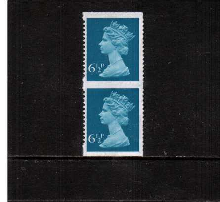 view larger image for SG X872avar (1975) - 6�p Greenish-Blue - 1 Centre Band<br/>