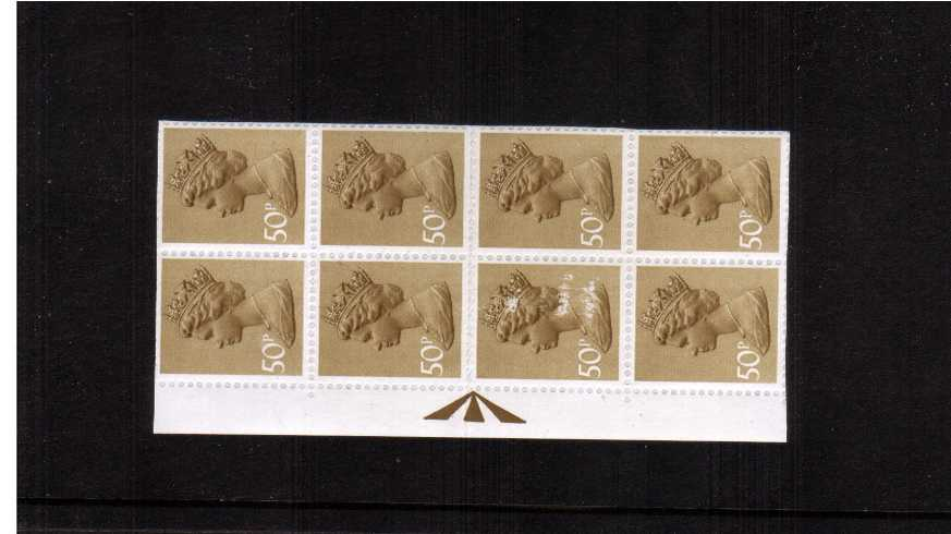 view larger image for SG X921var (1977) - 50p Ochre-Brown - 2 Bands<br/>