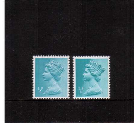 view larger image for SG  X841var (1971) - ½p Turquoise-Blue - 2 Bands<br/>