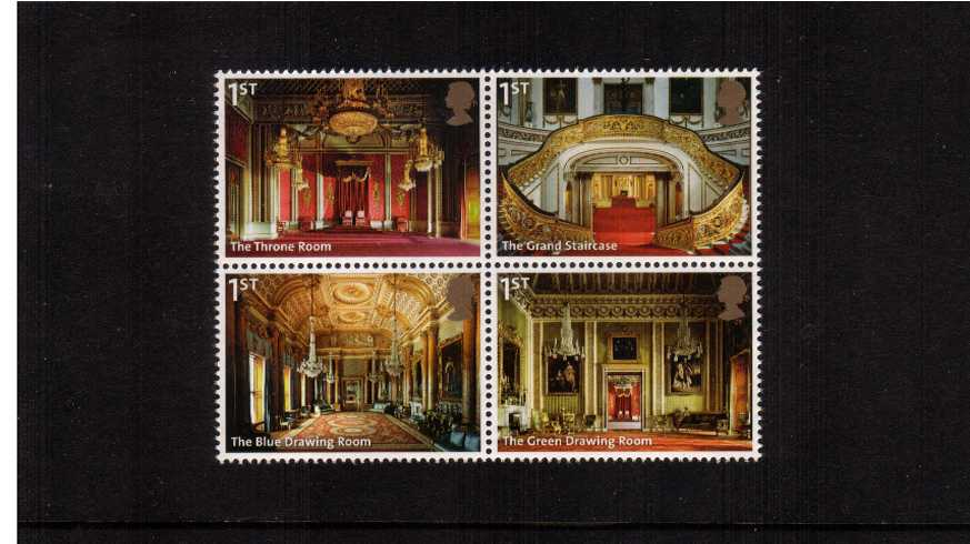 view larger image for SG 3597-3600 (2014) - Buckingham Palace - 2nd Issue<br/>Block of four ex booklet