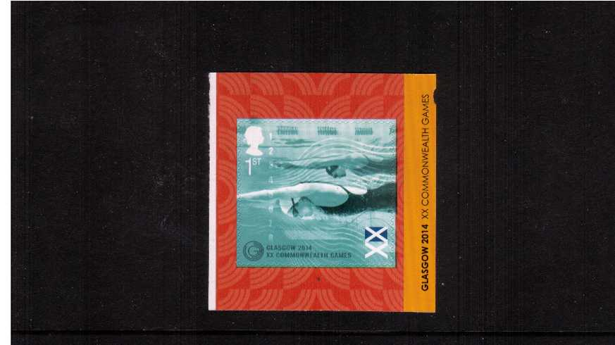 view larger image for SG 3625 (2014) - GLASGOW 2014 Commonwealth Games<br/>Self adhesive booklet single<br/>